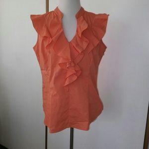 🍑Apricot blouse size large